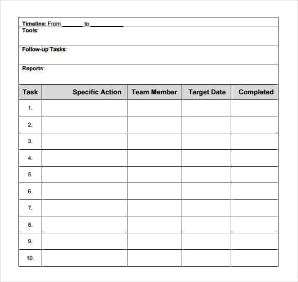 Fieldstation.co  Action Plan Templates Excel