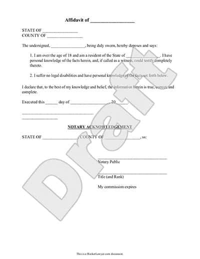 7 Affidavit Form Templates Word Excel PDF Formats – Affidavit Word Template
