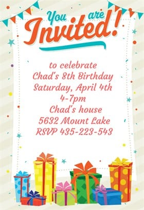 birthday party invitation 4