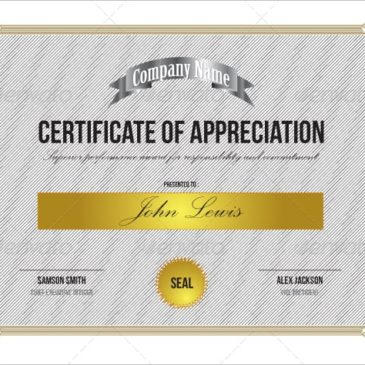 10+ Certificate of Appreciation Templates