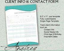 client information sheet template 5