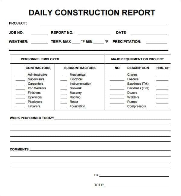10  daily report templates
