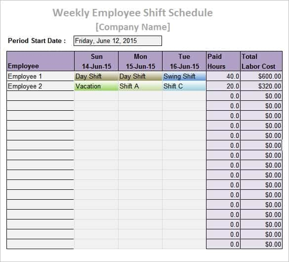 daily work schedule image 7