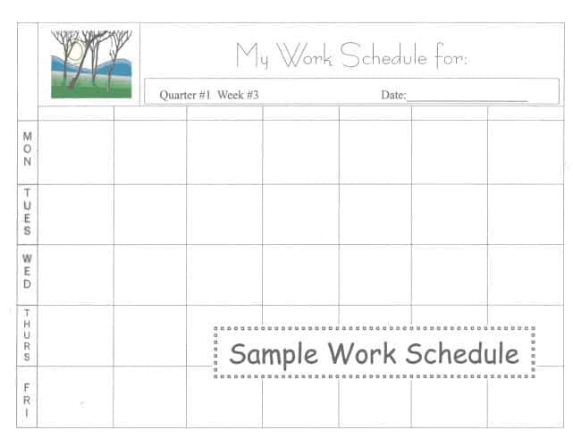 daily work schedule image 9