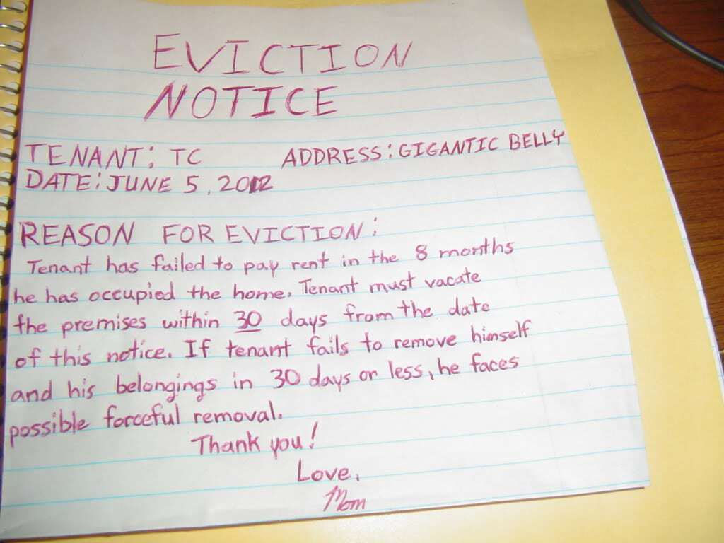Word Templates  Eviction Notice Example