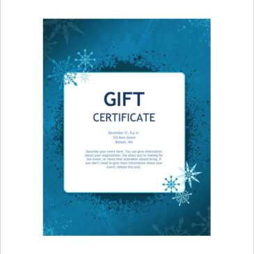 10+ Gift certificate templates