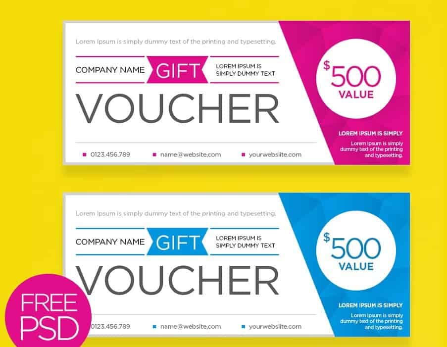 8 Gift voucher templates Word Excel PDF Formats – Sample Voucher Template