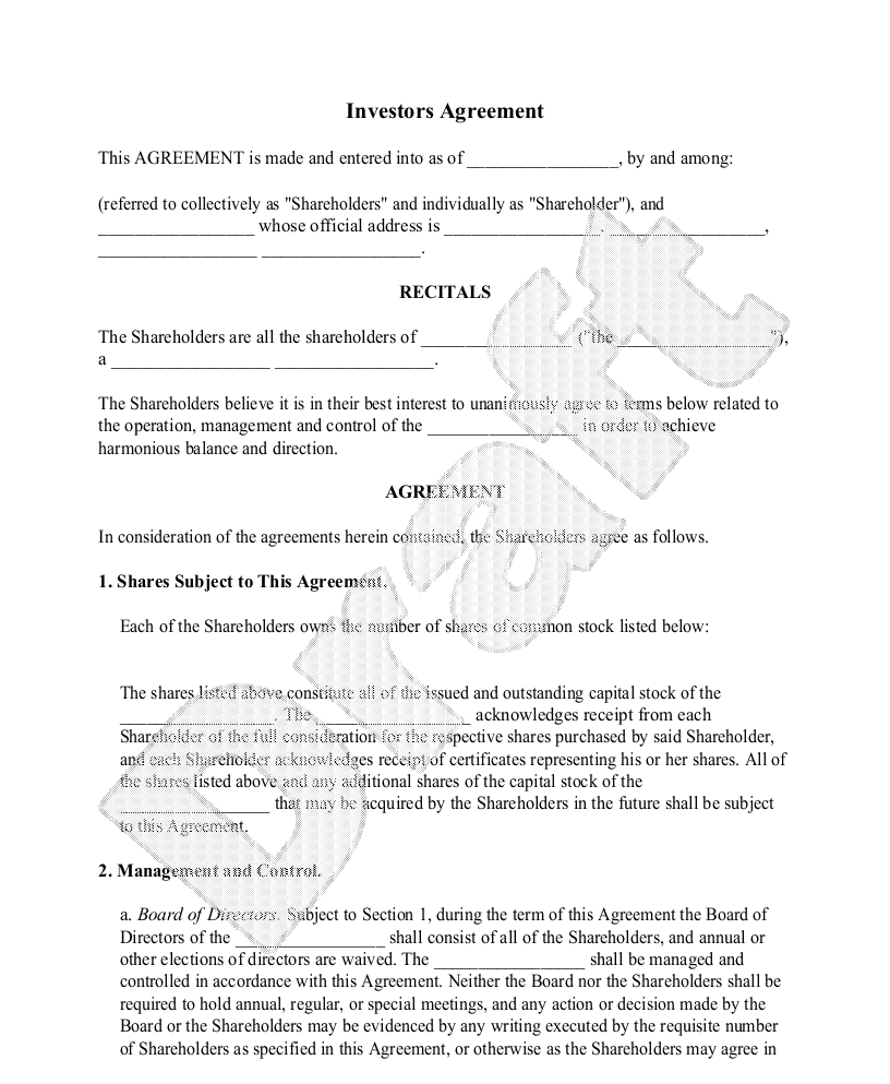 investment contract template 2