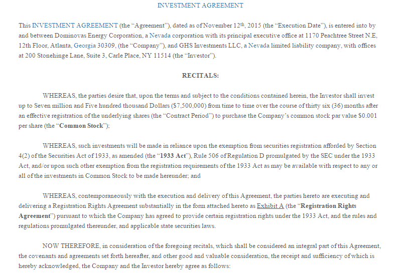 5 Investment Contract Templates Word Excel PDF Formats – Investors Agreement Template