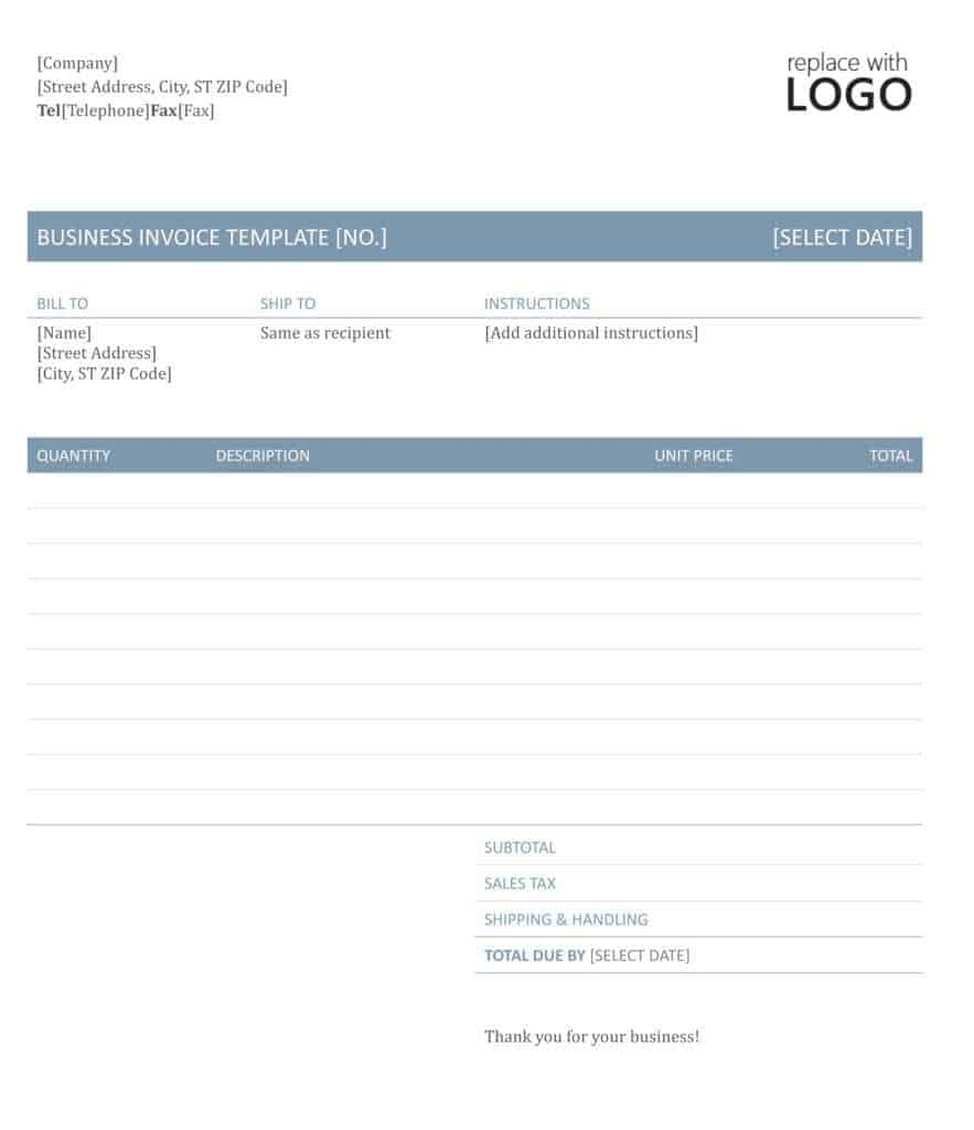 Microsoft Word - business invoice template