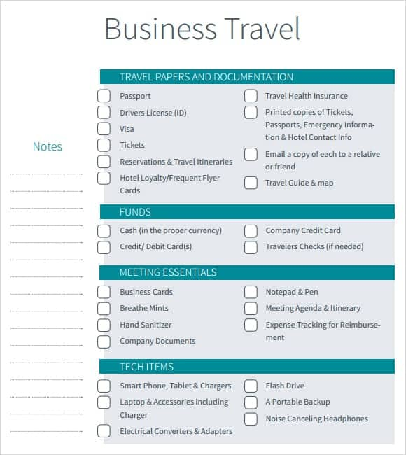 Word Templates  Business Itinerary Template With Meetings