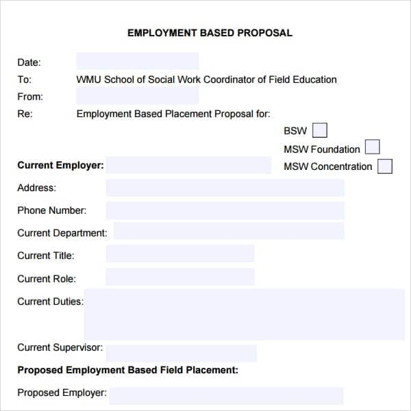 5+ Job proposal templates - Word Excel PDF Formats