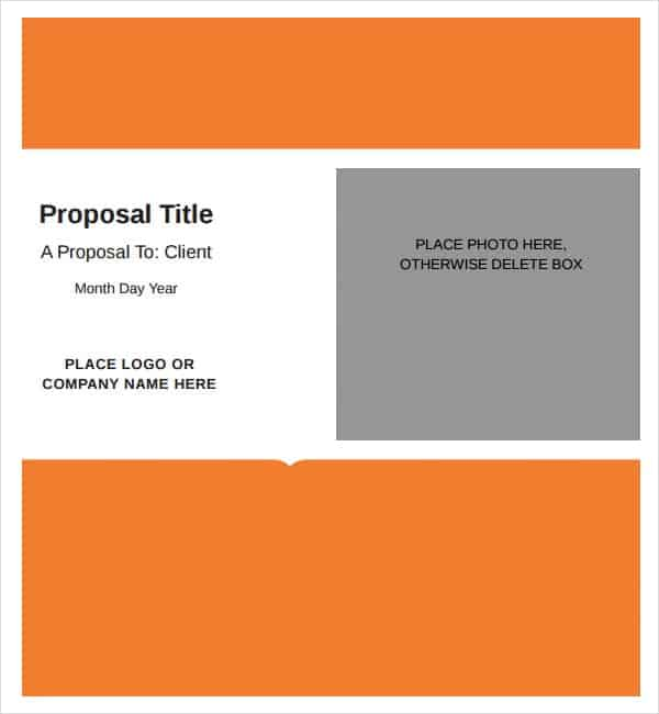 5 Job proposal templates Word Excel PDF Formats – Job Proposal Sample
