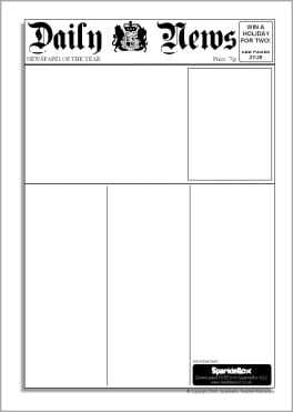 photo relating to Printable Newspaper Template identify 9+ Newspaper templates - Phrase Excel PDF Formats