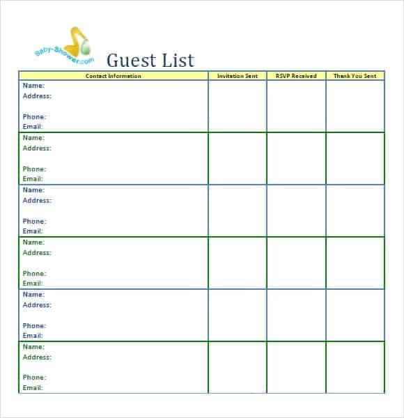 party guest list image 4