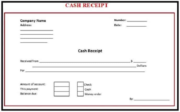 CASH RECEIPT TEMPLATES
