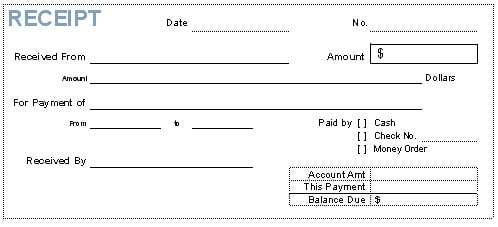 Word Templates  Payment Receipt Format
