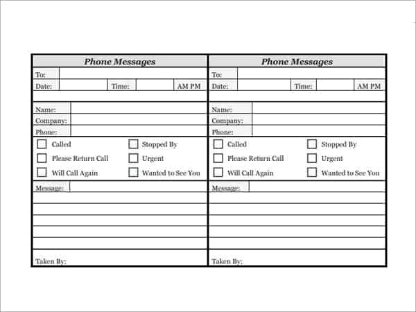 photograph about Printable Call Log Template called 10+ Cellphone log Templates - Phrase Excel PDF Formats