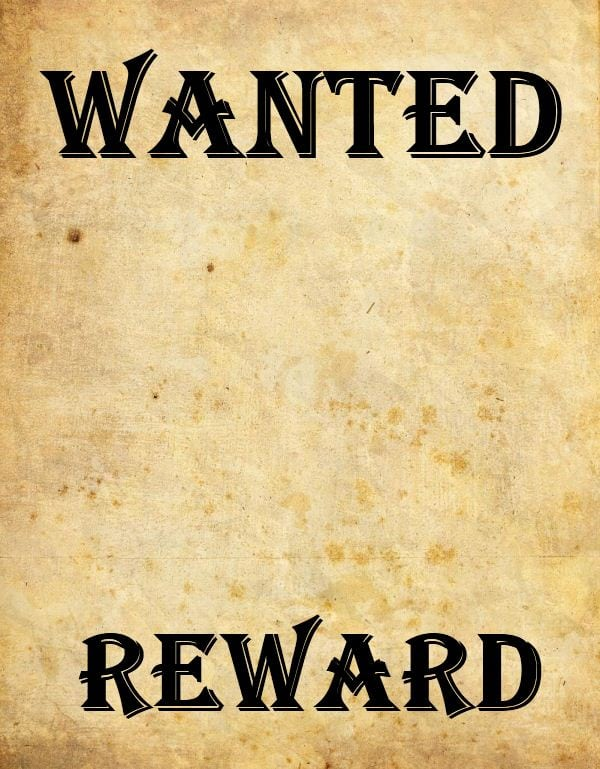9 Wanted Poster Templates Word Excel PDF Formats – Wanted Poster Template Microsoft Word
