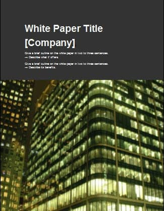 8 white paper design templates word excel pdf formats for Campaign literature templates