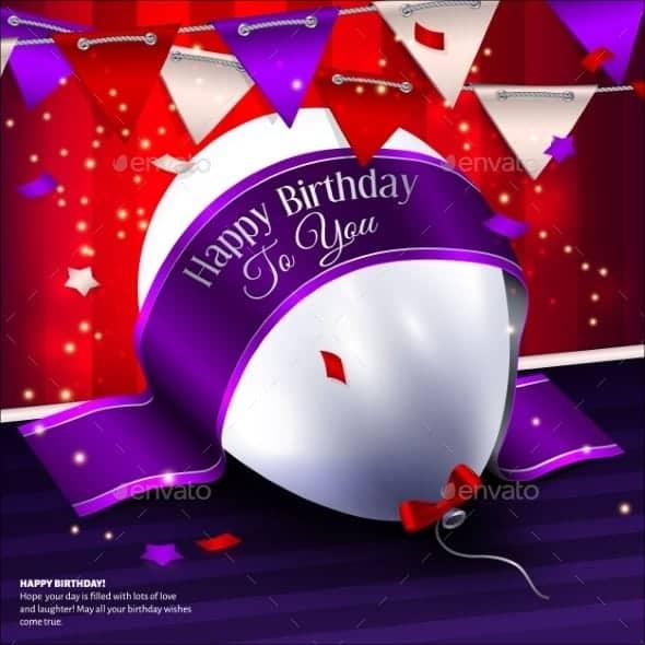 birthday card tenplate 1
