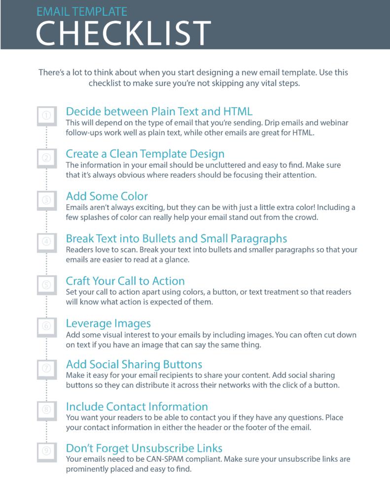 checklist template 4