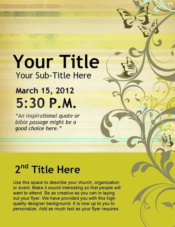 Event Flyer Templates  Word Excel Pdf Formats