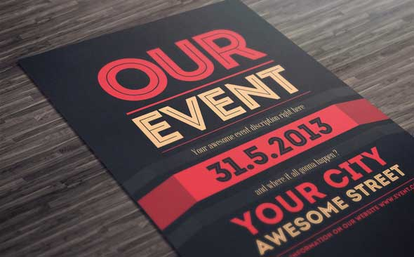 event flyer template 2
