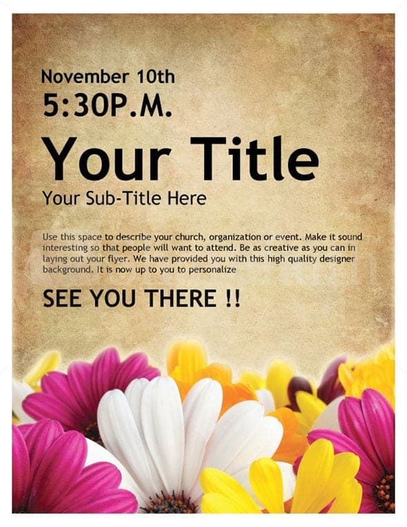 event flyer template 9