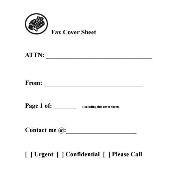 10 Fax Cover Sheet Templates Word Excel PDF Formats – Sample Blank Fax Cover Sheet