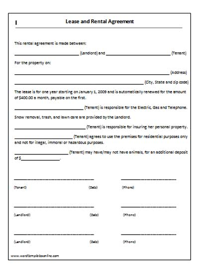 lease agreement template 11