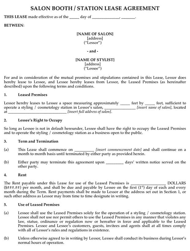 lease agreement template 7