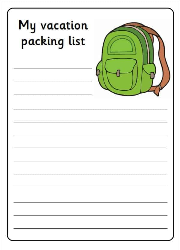 14 Packing List Templates Word Excel PDF Formats – Packing List Template