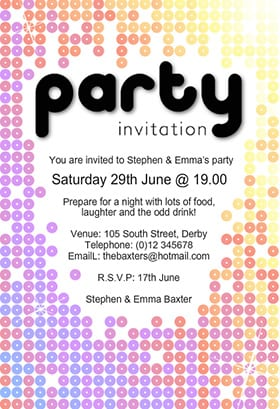 party invitation templates word excel pdf formats party invitations - Party Invitation Template Word