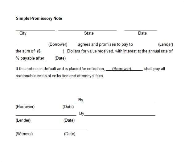 promissory note template 11