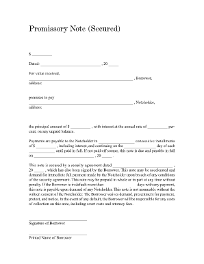 promissory note template 2
