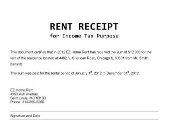9 rent receipt templates word excel pdf formats