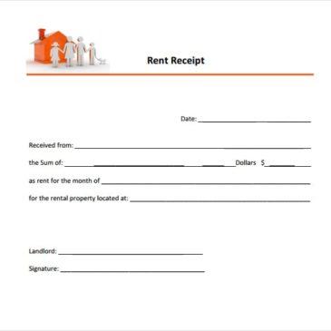 9+ Rent Receipt Templates