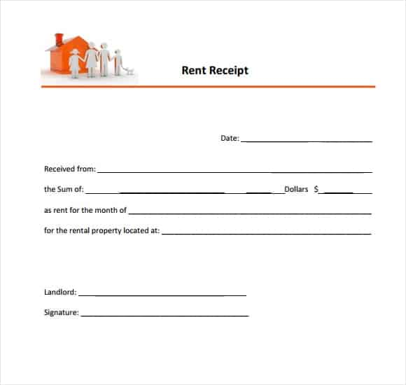 9 Rent Receipt Templates Word Excel PDF Formats – Rental Receipt Sample