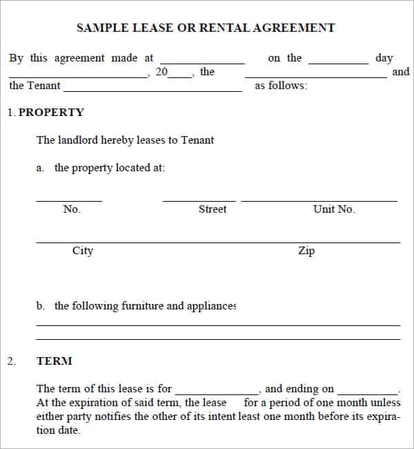 rental agreement template 16