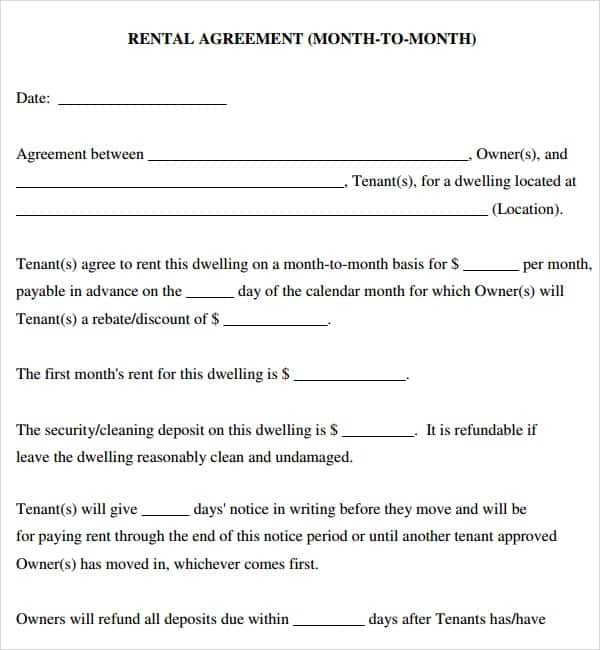 rental agreement template 4