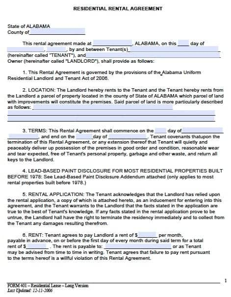rental agreement template 7