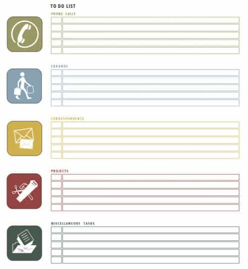 to do list template 3