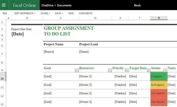 to do list template 5