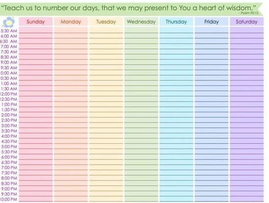 weekly planner template image 8