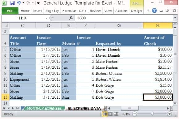 general ledger template 5412