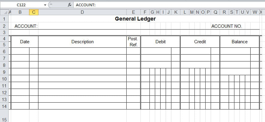 9+ General Ledger Templates - Word Excel PDF Formats