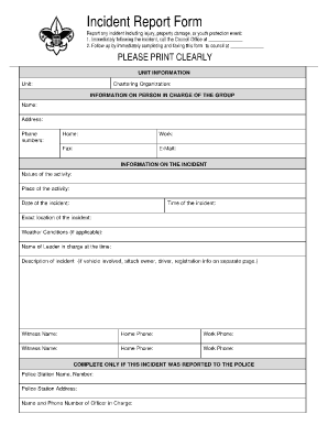 incident report template 641