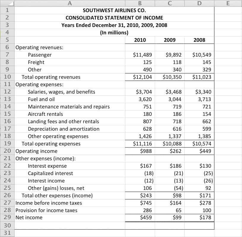 Word Templates  Income Report Template