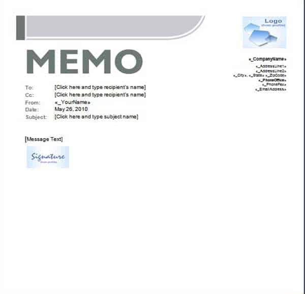 Ms Word Memo Template Archives - Word Templates